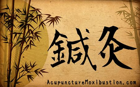 Acupuncture Moxibustion Chinese Charactors