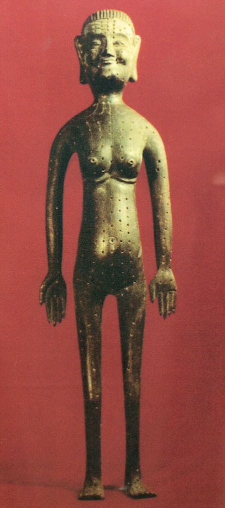 Acupuncture Points of the Bronze Figure